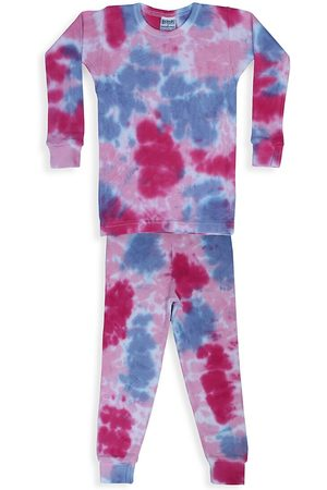 Baby Steps Baby's, Little Girl's & Girl's Diva 2-Piece Tie-Dye Thermal Pajama Set - - Size 7