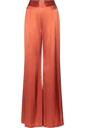 GALVAN Lido high-rise wide-leg satin pants
