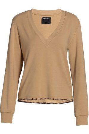 L'Agence Women's Helena V-Neck Sweatshrt - - Size XL