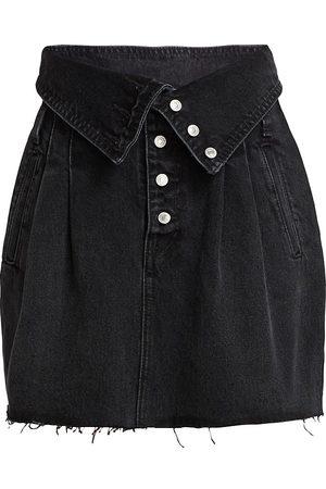 RE/DONE Women's 80s Foldover Waist Denim Skirt - - Size 26 (2-4)