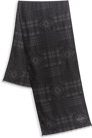 Ralph Lauren Men's Plaid Wool Scarf