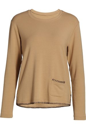 L'Agence Women Sweatshirts - Women's Christy Split Hem Sweatshirt - - Size Small