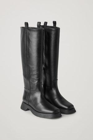 COS LEATHER CHUNKY SOLE KNEE HIGH BOOTS