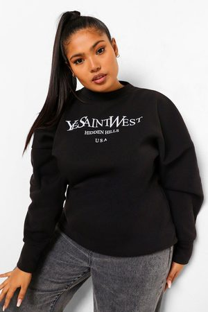 Boohoo Womens Plus Ye Saint West Sweatshirt - - 12