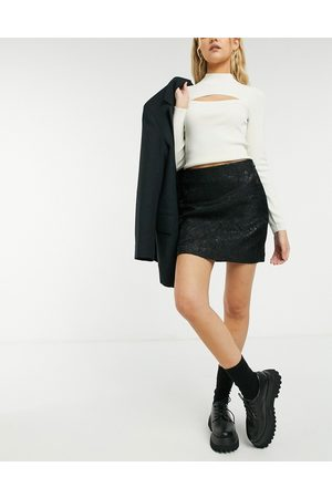 & OTHER STORIES & recycled jacquard mini skirt in