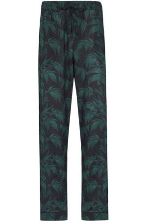 Desmond & Dempsey Men Pajamas - Palm-tree print pyjama trousers