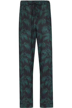 Desmond & Dempsey Palm-tree print pyjama trousers