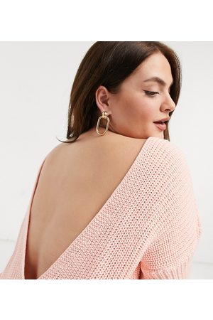 Glamorous Relaxed Sweater With Scoop Back