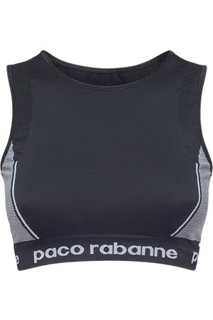Paco rabanne Logo Technical Jersey Crop Top