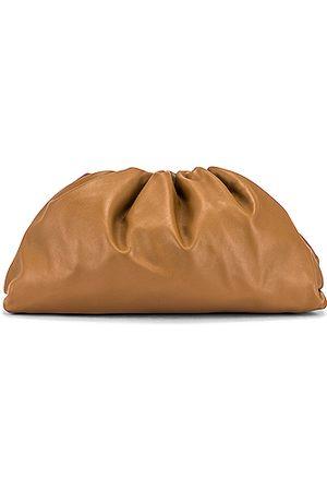 Bottega Veneta Leather Pouch Clutch in Neutral