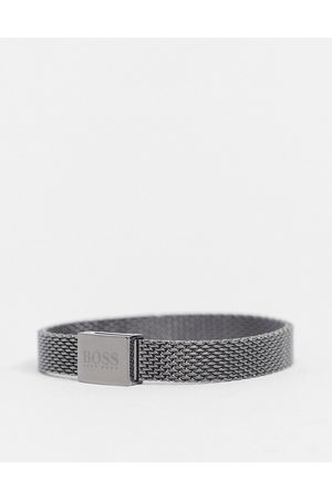 HUGO BOSS Hugo metal mesh bracelet in -Grey