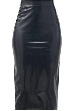 Saint Laurent High-rise Latex Midi Skirt - Womens