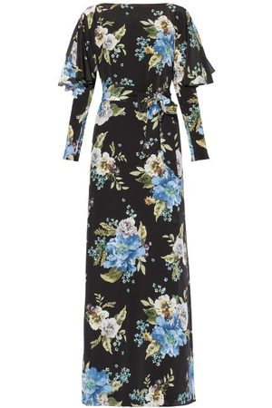 Erdem Women Printed Dresses - Jude Carnation-print Silk Maxi Dress - Womens - Print