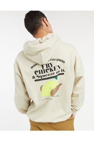 Vintage Supply Fry chicken hoodie in -Neutral