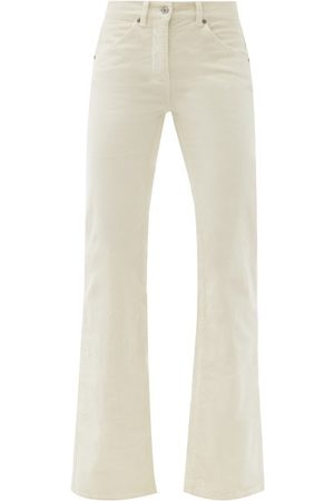NILI LOTAN Celia Cotton-blend Corduroy Wide-leg Trousers - Womens - Ivory