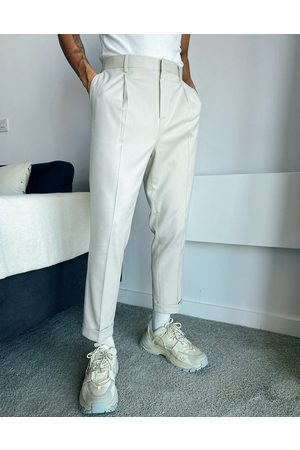 ASOS Tapered smart pants in white