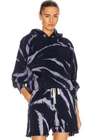 Les Tien Cropped Hoodie in ,Ombre & Tie Dye