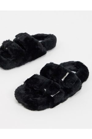 Steve Madden Around buckled slippers in