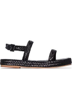 St Agni Interwoven strap leather sandals