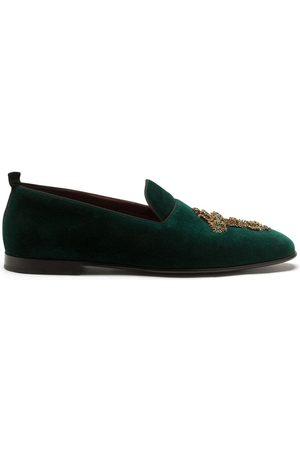 Dolce & Gabbana Embellished velvet loafers