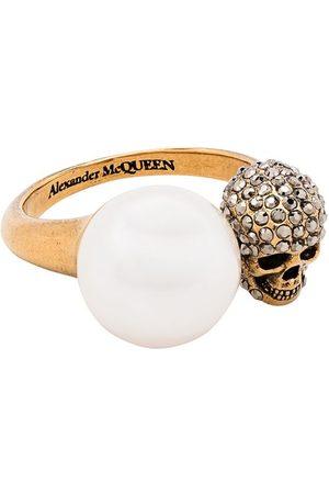Alexander McQueen Skull-motif pearl-detail ring