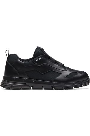 Prada Geometric panelled sneakers