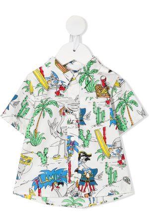 Stella McCartney Pirate-print short-sleeve shirt