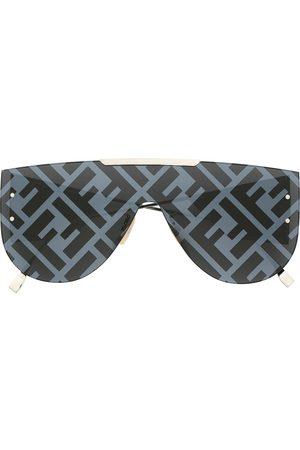 Fendi Aviator-frame logo-print sunglasses