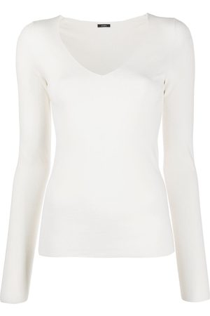 Joseph V-neck long sleeve top