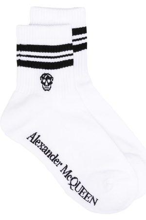 Alexander McQueen Skull logo-print socks