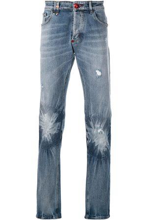 Philipp Plein Men Straight - Faded effect jeans