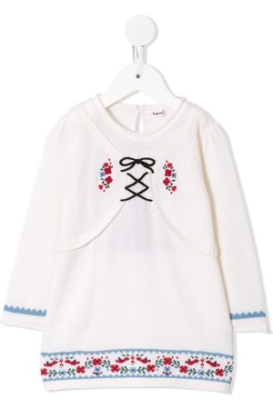 Familiar Embroidered long-sleeved jumper