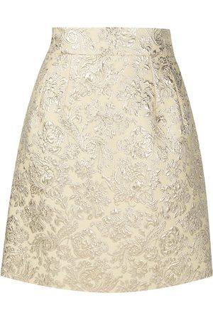 Dolce & Gabbana Jacquard-woven A-line skirt