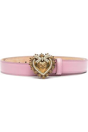 Dolce & Gabbana Women Belts - Devotion leather belt