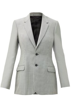 WARDROBE.NYC Women Blazers - Wardrobe. nyc - Release 05 Contour Houndstooth Merino-wool Jacket - Womens