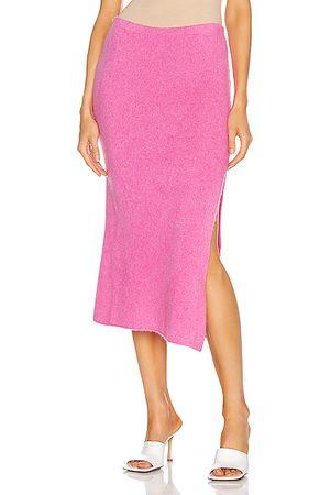 THE ELDER STATESMAN Heavy Slit Skirt in
