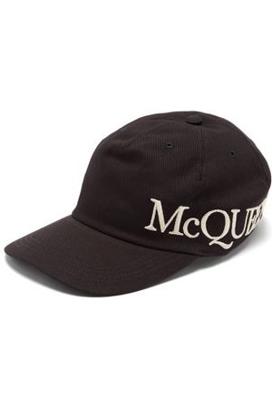 Alexander McQueen Men Caps - Logo-embroidered Cotton-canvas Cap - Mens