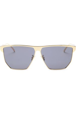 Bottega Veneta Angular Metal Sunglasses - Mens