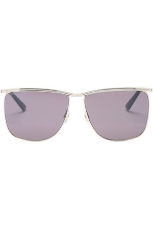 Gucci D-frame Metal Sunglasses - Mens