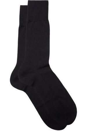 Falke No.6 Finest Merino-blend Socks - Mens - Navy