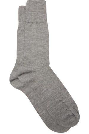 Falke No.6 Wool-blend Socks - Mens - Grey