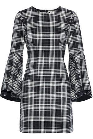 ALICE+OLIVIA Women Party Dresses - Woman Thym Checked Twill Mini Dress Size 0