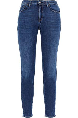 Acne Studios Women High Waisted - Woman Climb High-rise Skinny Jeans Mid Denim Size 24W-32L