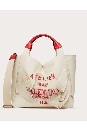 VALENTINO GARAVANI Atelier Bag Canvas Tote Women Multicolored Cotton 63%, Linen 37% OneSize