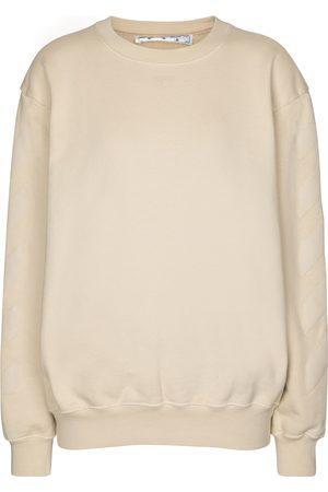 OFF-WHITE Logo cotton jersey sweatshirt