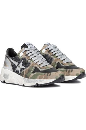 Golden Goose Running Sole printed leather sneakers