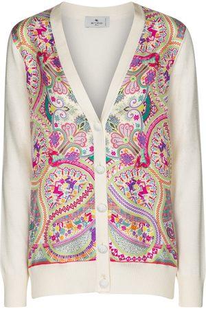 Etro Printed cotton-blend cardigan