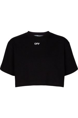 OFF-WHITE Ribbed crop top