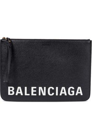 Balenciaga Logo leather pouch