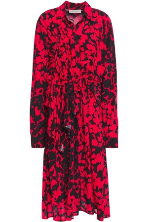 Preen Line Woman Felicity Ruffled Printed Crepe Dress Size L